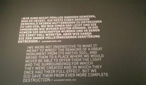 Zitat von Alexander Conze zum Umgang mit historischen Funden.