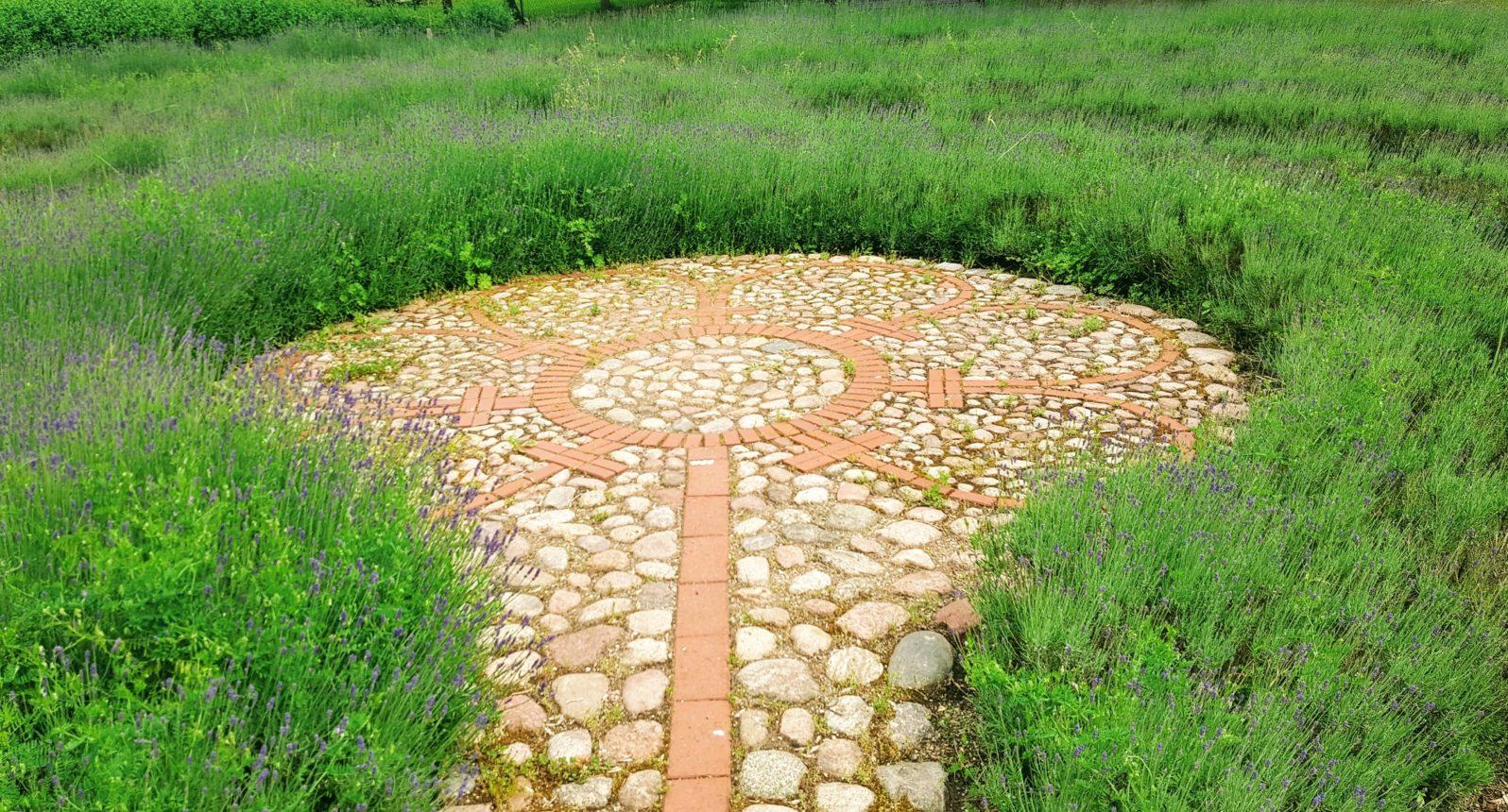 Variante des Labyrinths von Chartres