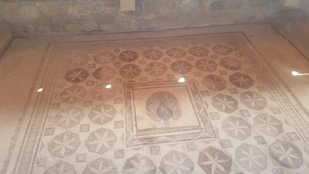 Mosaik mit dem Motiv Pfau