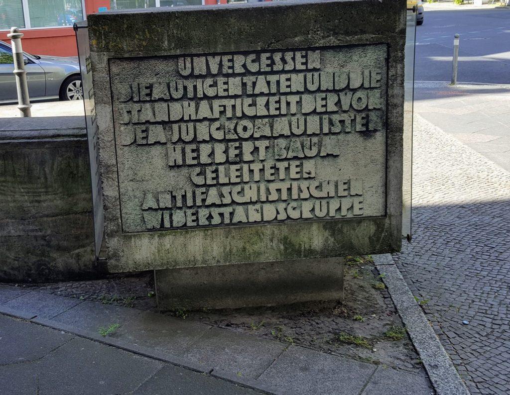 Nachbildung des Denkmals für die Baum-Gruppe am Monument for Historical Change
