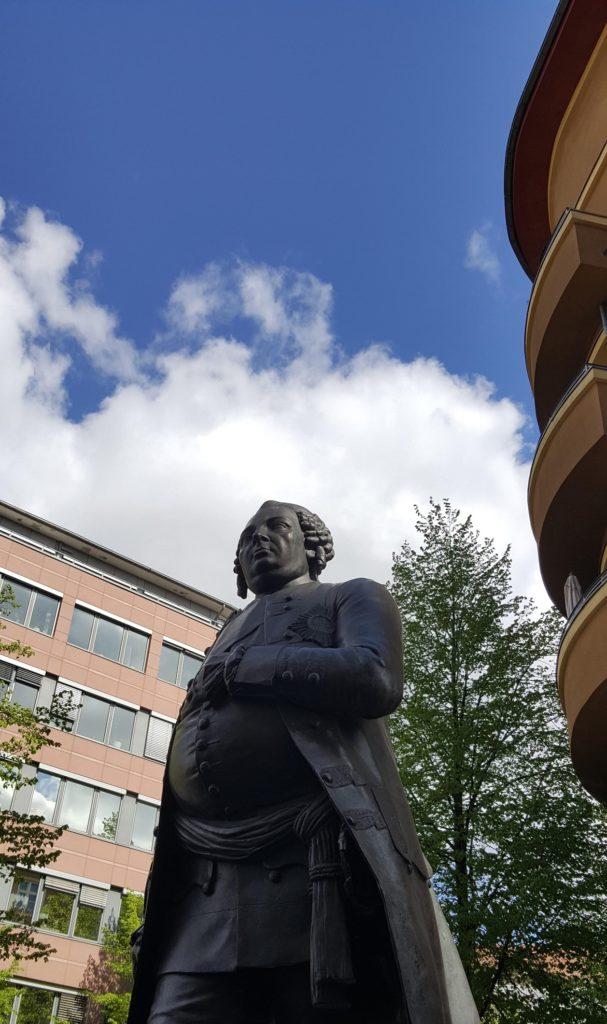 Skulptur von Friedrich Wilhelm I. als Teil des Monument for Historical Change